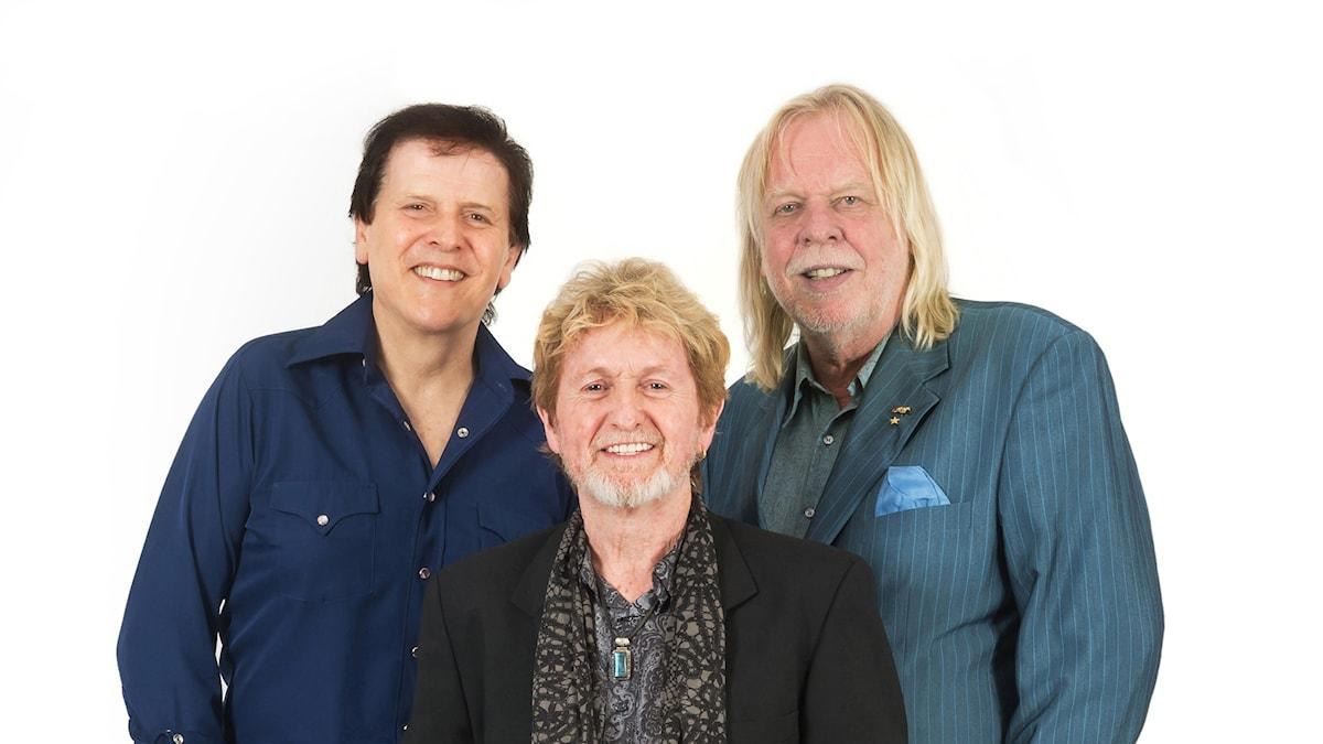 Tre av medlemmarna i Yes.
