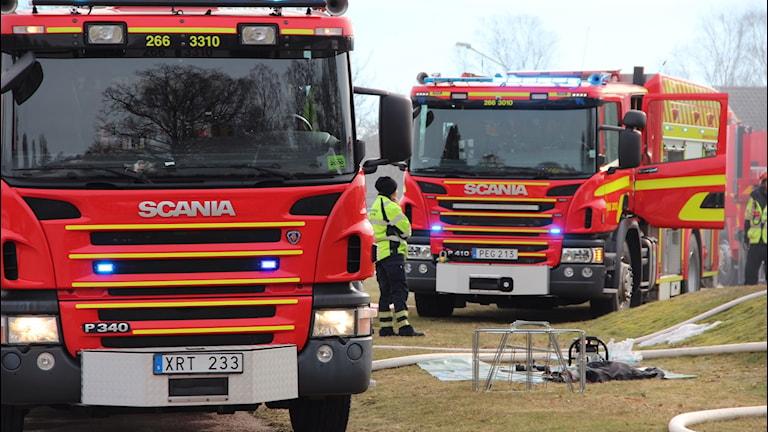 Räddningstjänst västra Blekinge Brandbil Brand