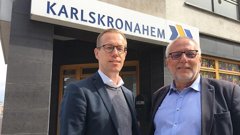 Björn Eliasson, vd Karlskronahem och Börje Dovstad ordförande Karlskronahem.