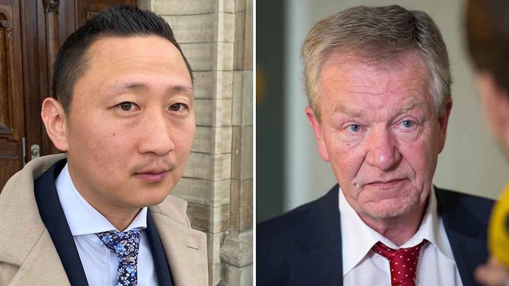 Advokat Karl Hamstedt och advokat Erik Widner.