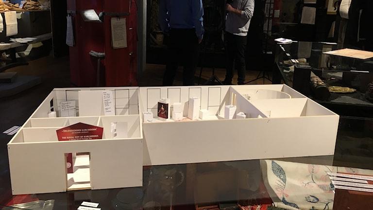 En modell som visar hur det nya museet ska se ut.