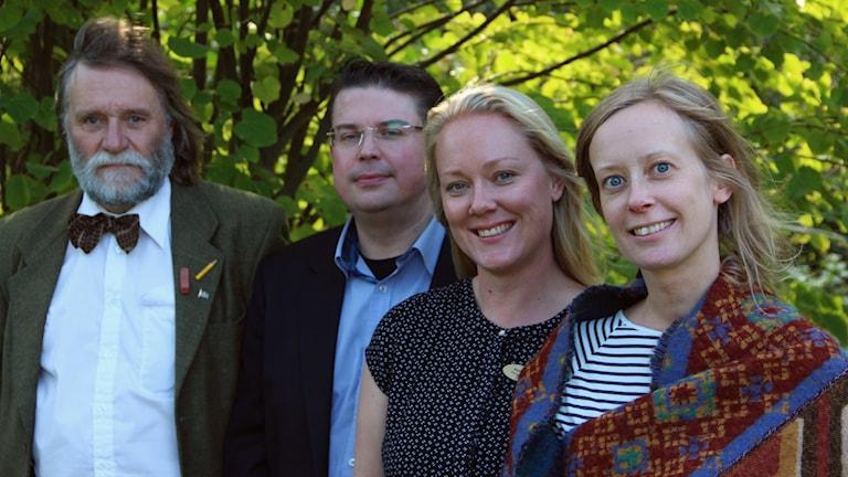 Johannes Holmquist, Marcus Bernardsson, Pernilla Wierum och Malin Håkansson
