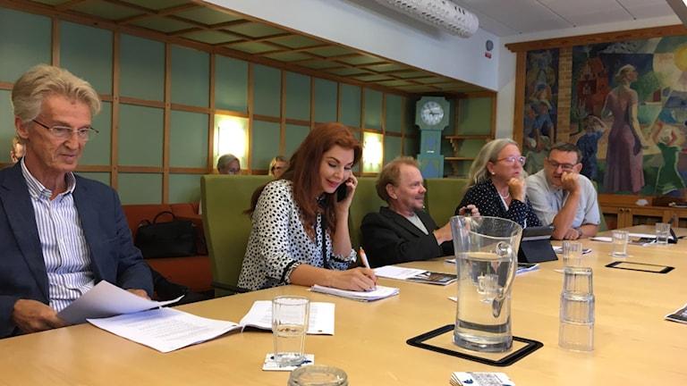 Samstyret på presskonferens om handlingsplanen.