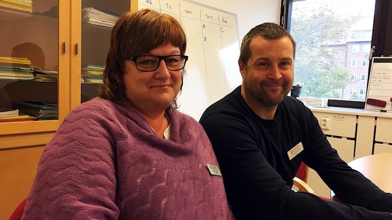 Marie Franzén och Patrik Gustavsson, rektorer på Vuxenutbildningen i Karlskrona.