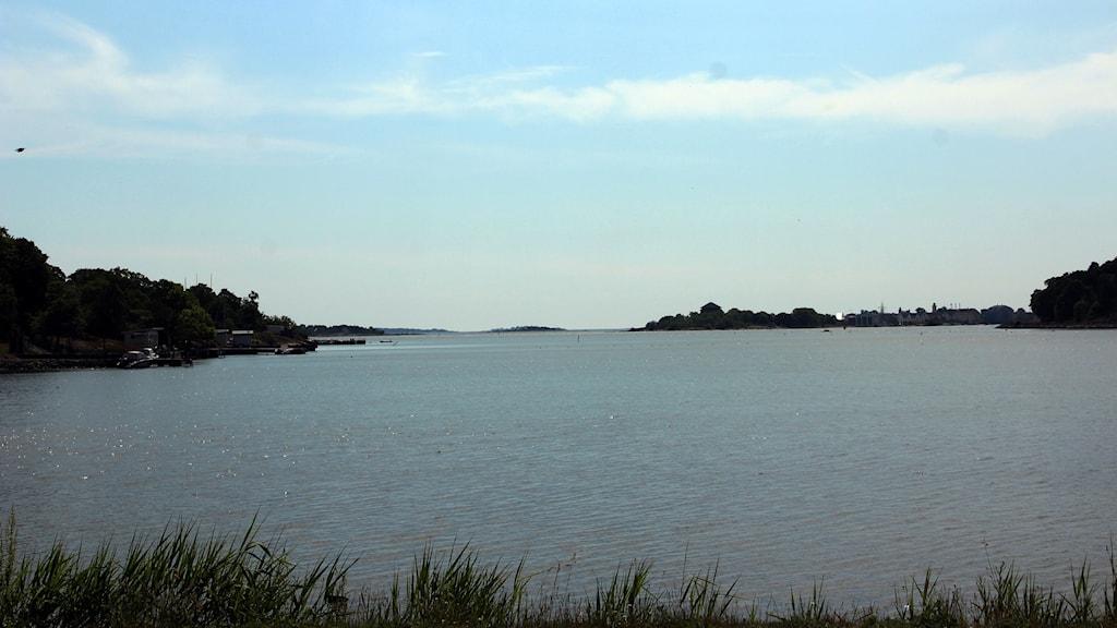 Vattnet utanför Hästö i Karlskrona.