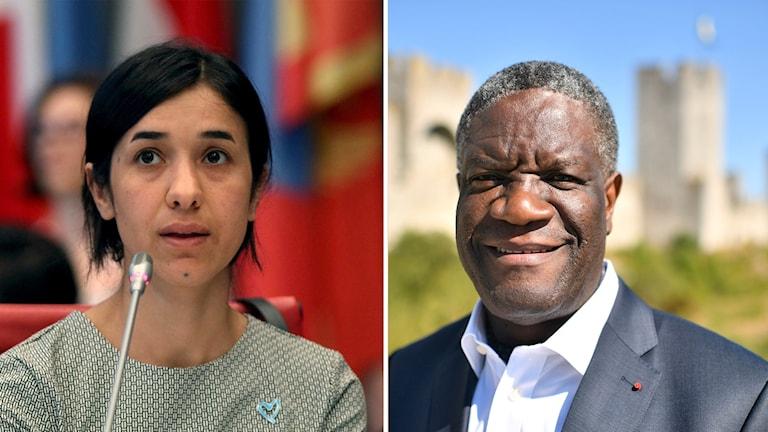 Nadia Murad och Denis Mukwege