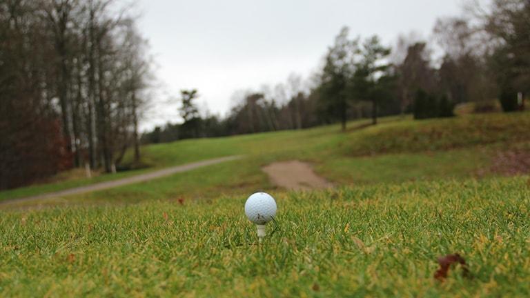 Peggad golfboll.