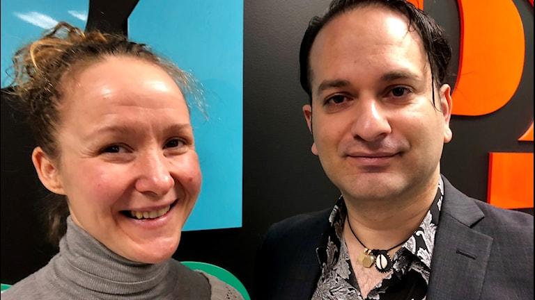 Rebecca Löfstrand, verksamhetsledare på panncentralen och Leo Alzirovic som håller i satsningen från Panncentralens/Mellanstadens Folkets hus sida.