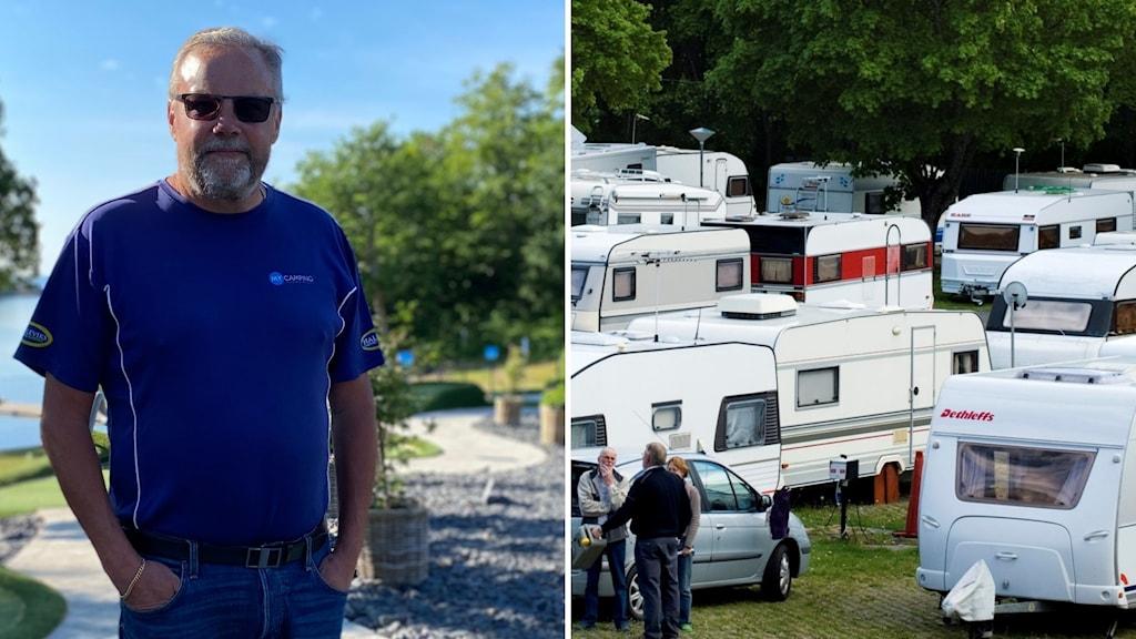 Joakim Dahlgren som äger Halens camping i Olofström och Kolleviks camping i Karlshamn