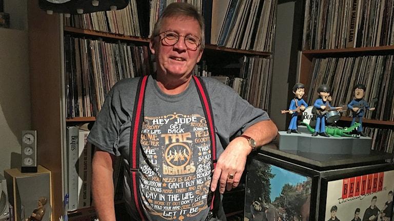 Olle Klein och hans vinylsamling Skivor