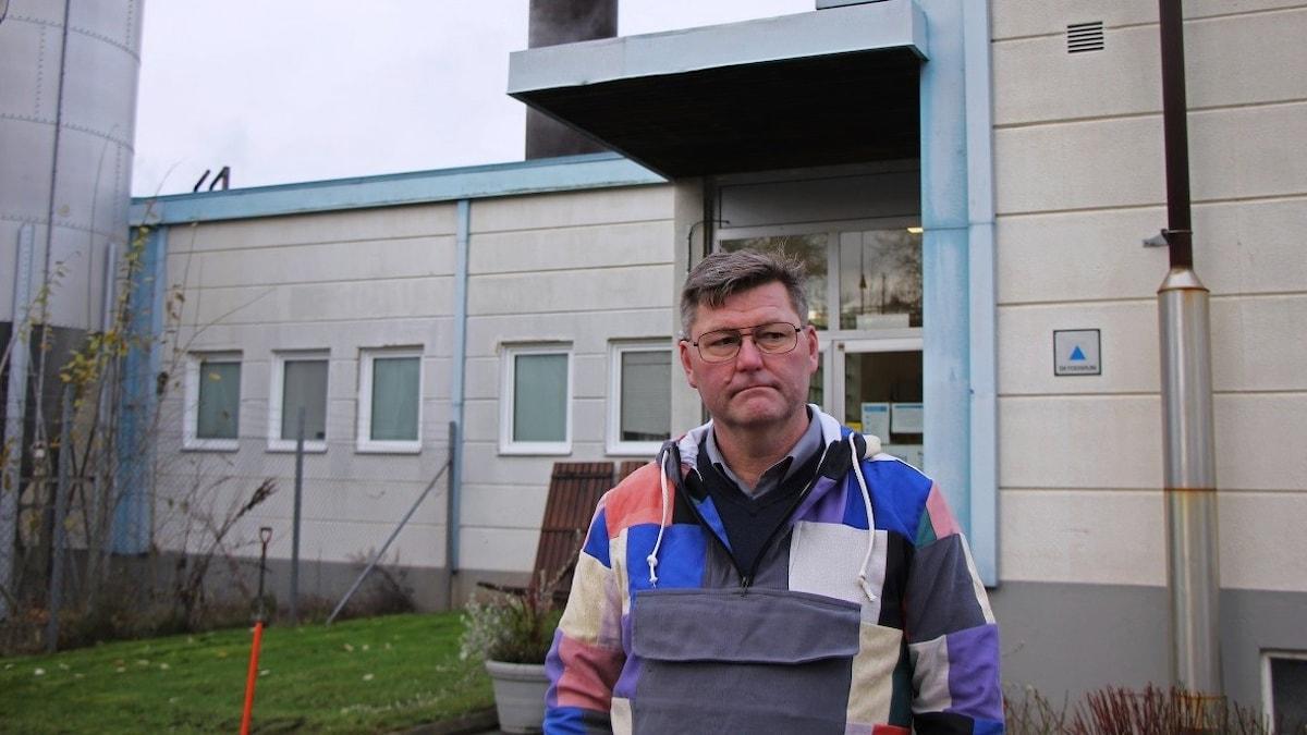 Tommy Hedström, platschef på Textilia.