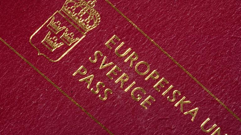 Närbild på ett pass.