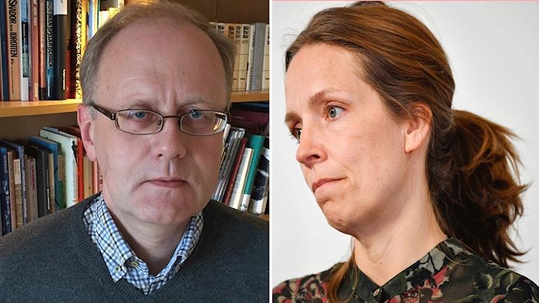 Bengts Wittesjö, smittskydssläkare i Blekinge och Sara Byfors, enhetschef på Folkhälsomyndigheten.