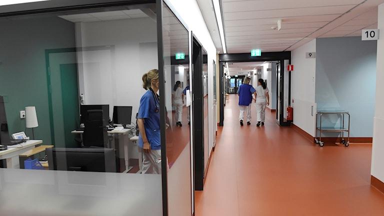 Sjuksköterskor på Nya Karolinska.