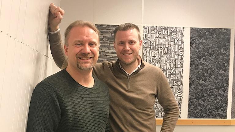 Filmskaparna Henrik JP Åkesson och Mattias Olsson.