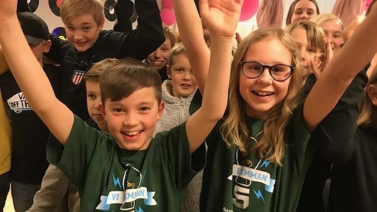 Fredriksbergsskolan 5C  vann första semifinalen