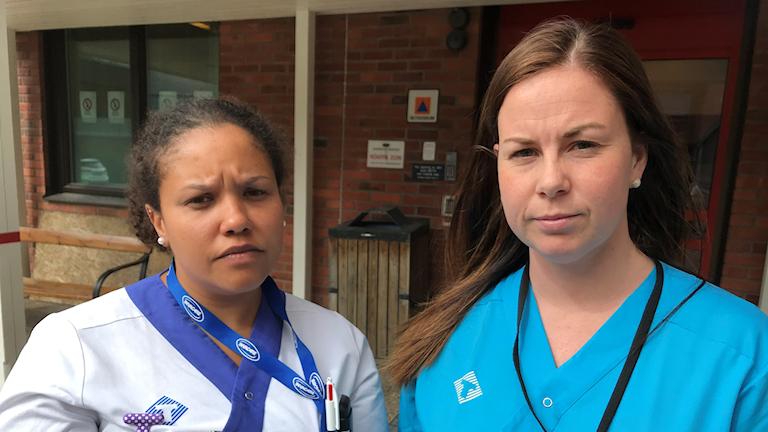 Personal på Blekingesjukhuset protesterar mot dåliga arbetsförhållanden.