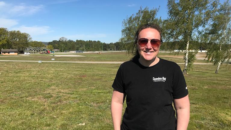 Anna Alm bygger och river festivalområdet på Sweden Rock 2019.