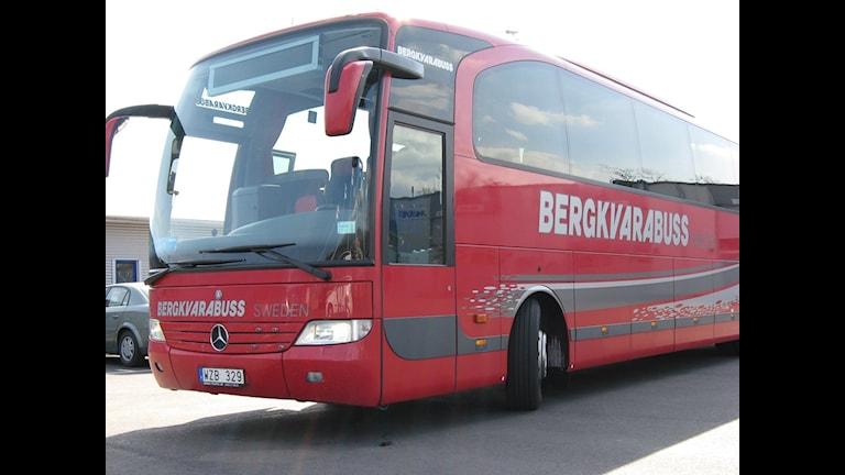 En av Bergkvarabuss bussar. Foto: Daniel Kjellander/SR Blekinge.