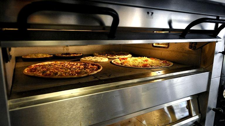 Pizzaugn med pizzor i. Foto: Pontus Lundahl/Scanpix.