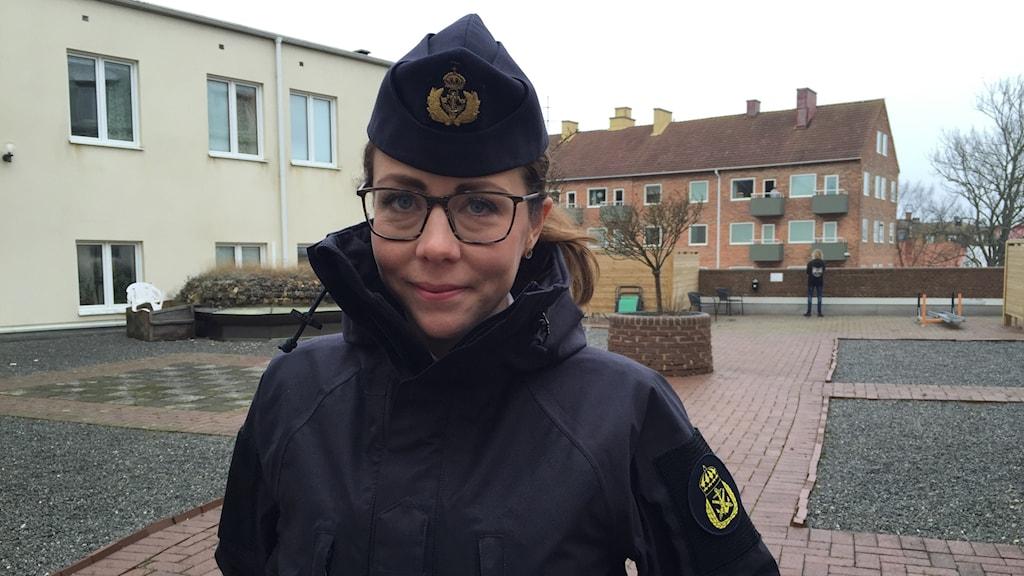 Frida Linehagen från Sjöstridsskolan i Karlskrona