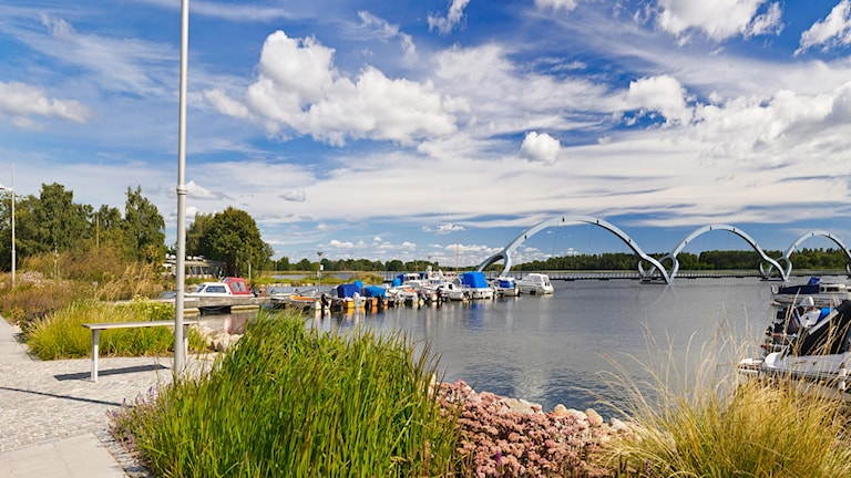 Gångbron i Sölvesborg