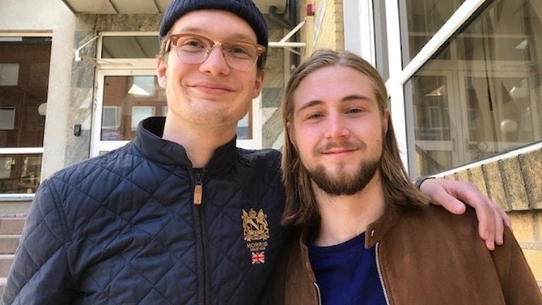 Fabian Notelius och Axel Holst.