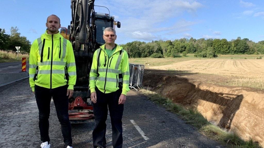 Daniel Kamenell från kommunen och Jonny Petersson från Ronneby Miljöteknik