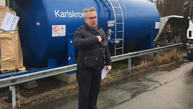 Tank HVO fossilfritt bränsle Peter Johansson invigning