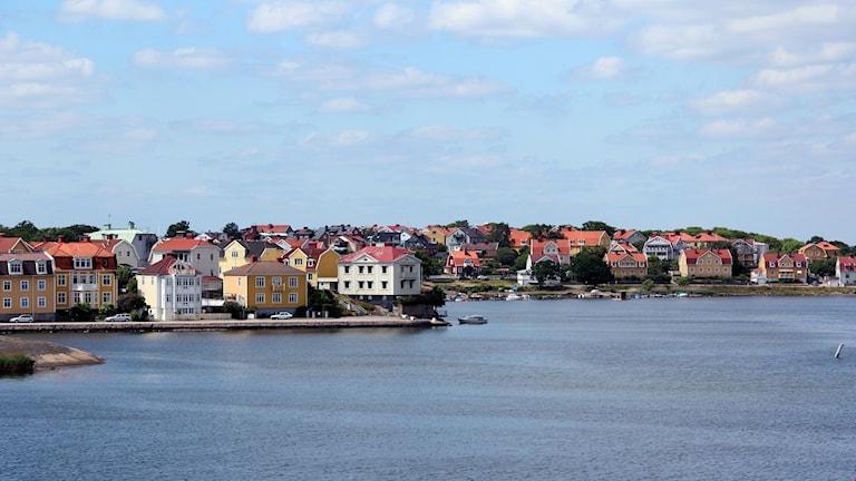 En bild på Borgmästarefjärden i Karlskrona.