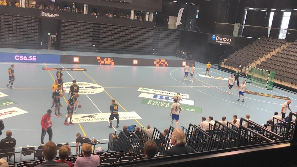 Handbollsmatch mellan HIF Karlskrona - Torslanda