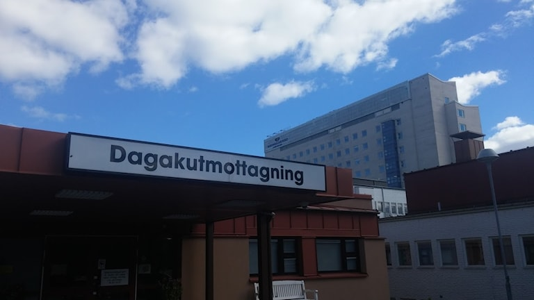 Skylten vid entrén till Dagakuten i Karlshamn