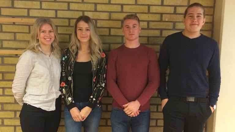 Wilma Persson, Amanda Miljkovic, Hunor Lazlo och Kristian Månsson
