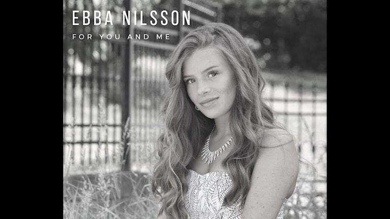En svartvit bild på Ebba Nilsson