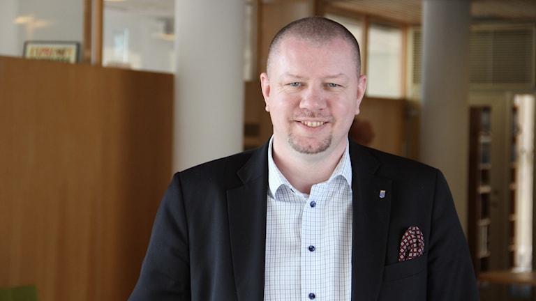 Ronnebys moderata kommunalråd Roger Fredriksson. Foto: Mikael Eriksson/Sveriges Radio.