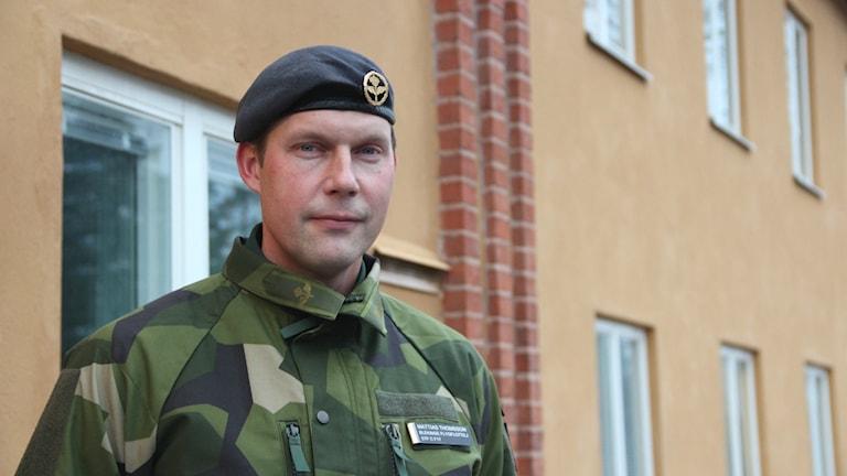 Mattias Thomsson som är ställföreträdande chef på F17 i Kallinge