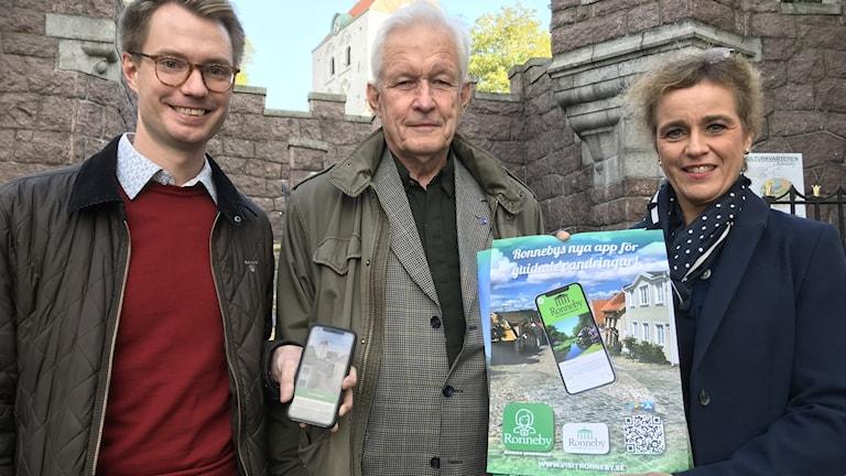 Magnus Carlsson, Björn O Svensson och Jeanette Rosander.