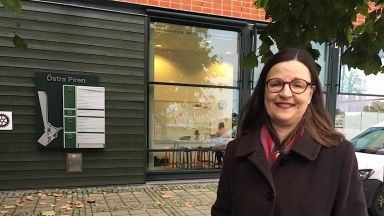 gymnasie- och kunskapslyftsminister Anna Ekström (S) besöker Karlshamn.