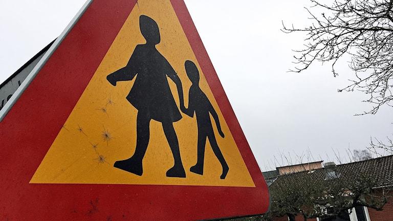 """Varningsmärket """"Varning för barn"""""""