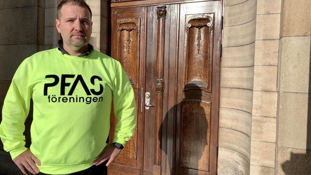 Herman Afzelius som är ordförande i PFAS-föreningen i Kallinge.