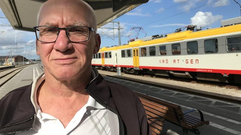 Bengt Johansson från Jämjö pensionär som åker kollektivt