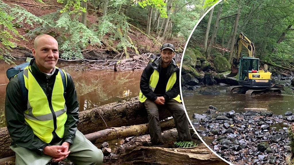 [10:40] Daniel Kjellander     Personerna på bilden är Simon Lindberg och läraren Henric Persson från Fiskevårdslinjen på Blekinge Folkhögskola