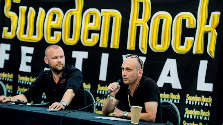 Martin Forsman och Mats Natvig på Sweden Rock.