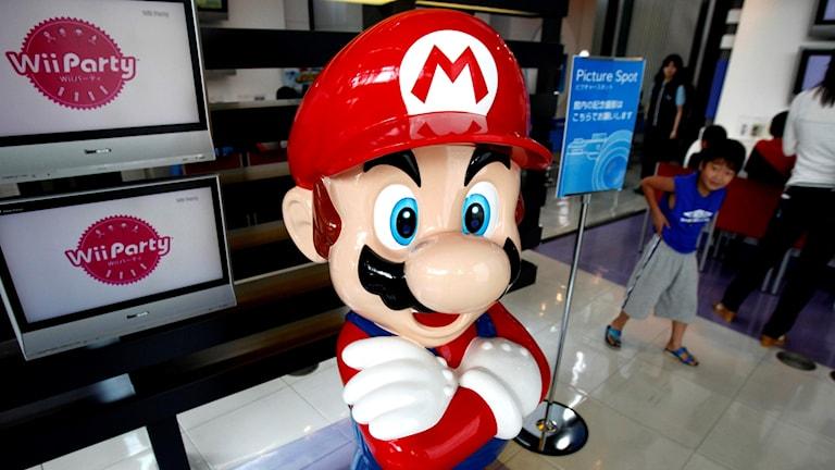 Den välkända dataspelsikonen Mario.