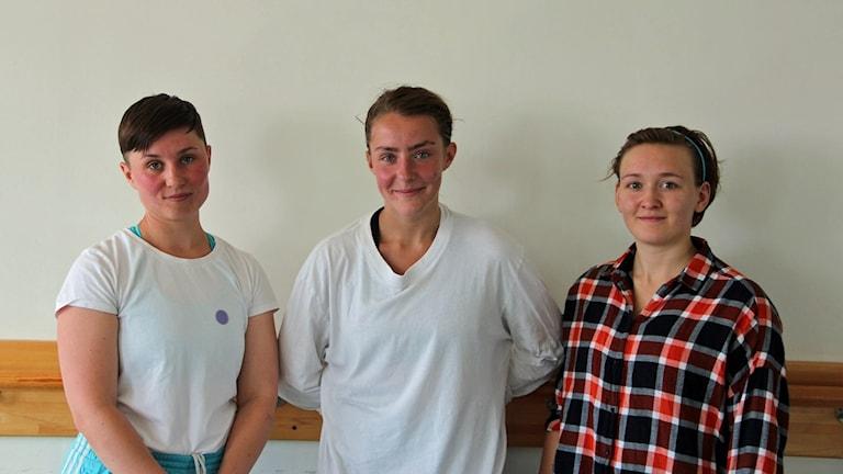 Anna Johansson, projektledare för dansresidenset tillsammans med konstnärerna Liza Tegel och Louise Dursjö.