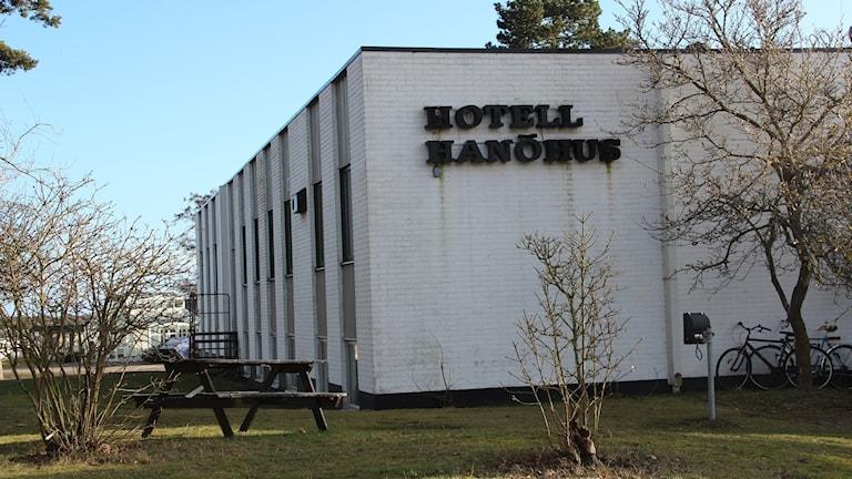 fasaden till asylboendet på Hanöhus.