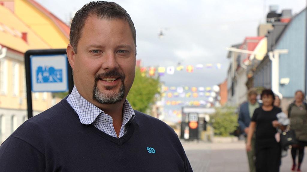 Christopher Larsson från Sverigedemokraterna i Karlskrona.