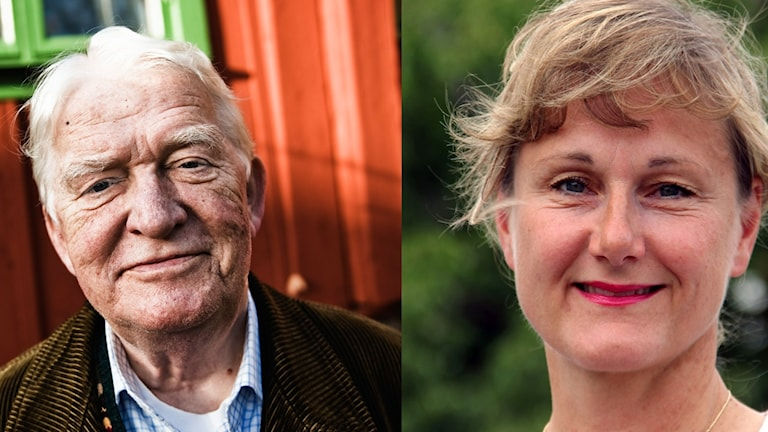 Ett kollage med en bild på Hasse Alfredsson och Annicka Engblom.