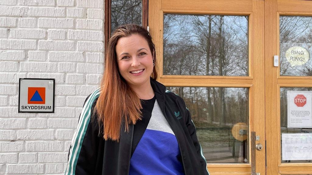 Läraren Hanna Ohnback på Karlskrona Montessorifriskola.