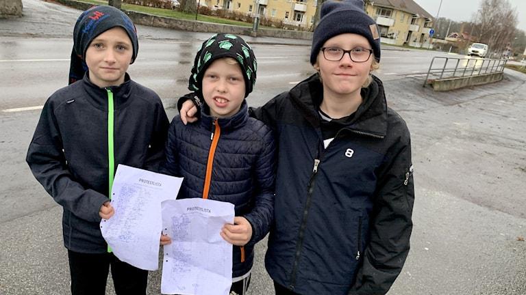 William Åkesson Alve Folkesson och Alwin Spogardh.